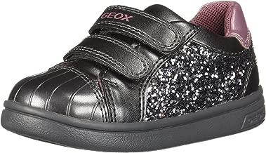 Geox Kids' Dj Rock Girl 11 Sparkly Velcro Sneaker