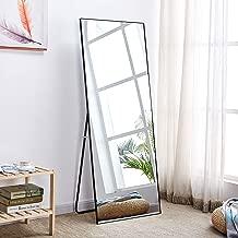 "Rose Home Fashion Aluminum Alloy Thin Frame-65 x22"", Floor Mirror, Standing Mirror, Full Length Mirror, Large Mirror, Floor Length Mirror, Black Floor Mirror, Black Frame"