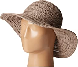 San Diego Hat Company PBL3078 Four Buttons Paper Braid Floppy Hat with Self Knotted Tie