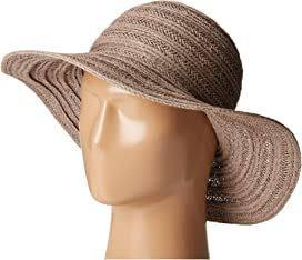 c447b6ad37944 PBL3078 Four Buttons Paper Braid Floppy Hat with Self Knotted Tie