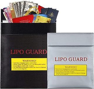 Porte-documents Anti Feu Porte-Documents Ignifuge éTanche Sac à Documents Ignifuge Batterie Safe Bag Sac d'argent Ignifuge...