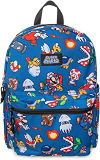 """Super Mario Brothers All Over Print 16"""" Backpack"""