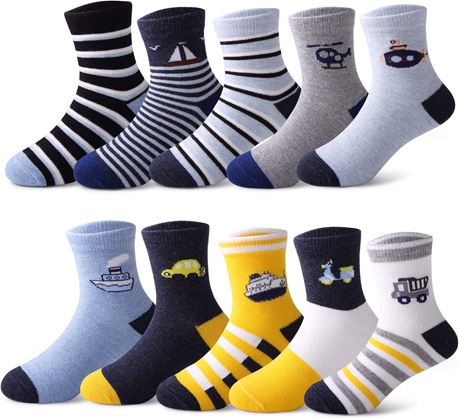 10 Pairs Kids Boys Socks Colorful Free shipping New Brand new Cotton Fashion Novelty