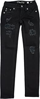 Miss Me Girls Black Skinny Sequin Jeans
