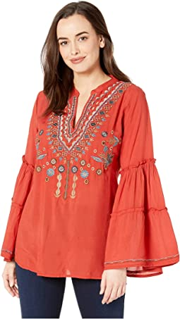 Piper Embroidered Double Tiered Sleeve Tunic