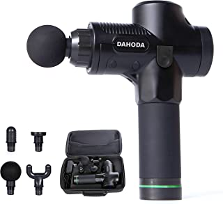 DAHODA M4 Pro Fascia Percussive Massage Gun, Cordless Handheld 20-Speed Electric Massager with Powerful Quiet Brushless High-Torque Motor for Muscle Tension and Pain Relief