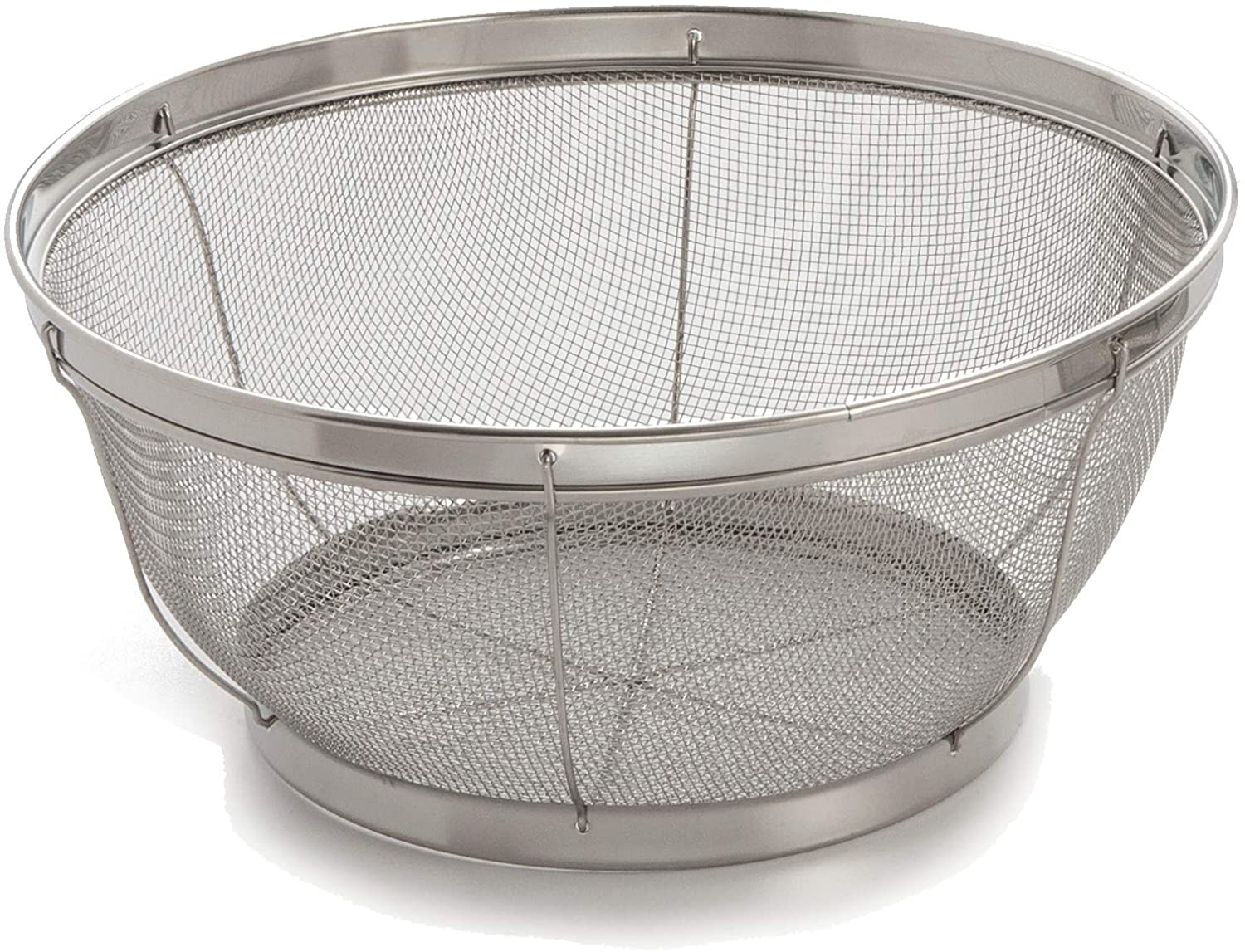 Amazon Com Cook Pro 7 1 2 Inch Stainless Steel Mesh Colander Rice Strainer Kitchen Dining