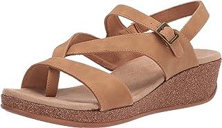 Easy Street Women's Wedge Sandal, Natural, 6.5 Wide