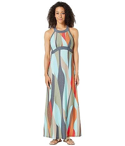 Prana Calexico Maxi Dress (Charcoal Wavy) Women