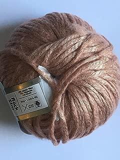 Rock Star, Pale Gold, Pale Pink, Metallic Shine, Soft Nylon Merino Wool Acrylic Blend Yarn, 50 Gram