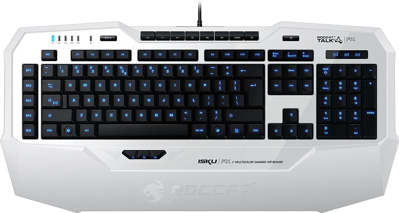 Roccat Isku FX - Teclado Gaming, iluminación Multicolor, Color Blanco