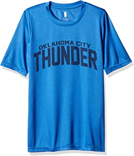 Outerstuff NBA NBA Youth Boys Oklahoma City Thunder Curved Ball Short Sleeve Performance Tee, Strong Blue, Youth X-Large(18)