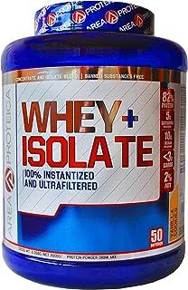 Oferta Lanzamiento! AREAPROTEICA – WHEY ISO Proteina isolate en polvo de alta absorción para incrementar la masa muscular protein, 2kg (Galleta Vainilla)