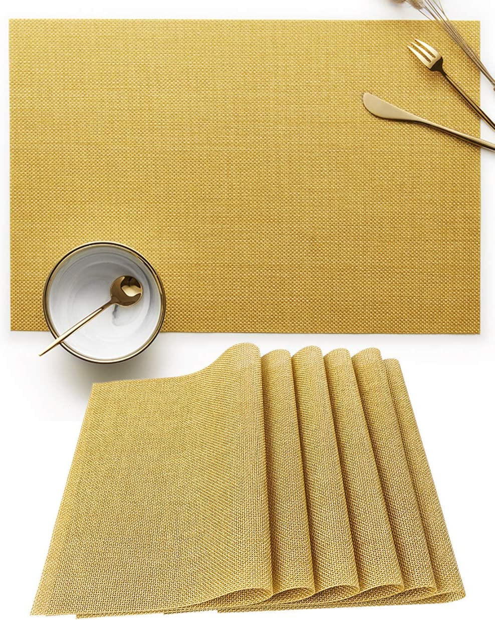 YouthGo Placemats Washable Dining Table Place Mats PVC Set 6 wholesale Mesa Mall of