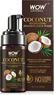 WOW Skin Science Coconut Hydrating Foaming Face Wash - with Coconut Water - For Cleansing, Soothing Skin - No Parabens, Su...
