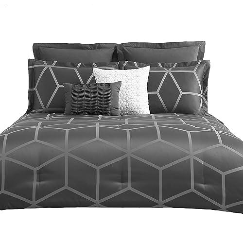 . King Contemporary Comforters  Amazon com