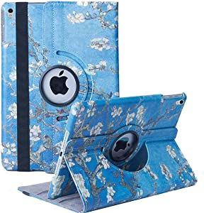 Hsxfl New iPad Air 3 Case 2019(3rd Gen)/iPad Pro 10.5 2017 Case- 360 Degree Rotating Adjustable Multiple Stand Smart Cover Case with Auto Sleep Wake for Apple iPad 10.5