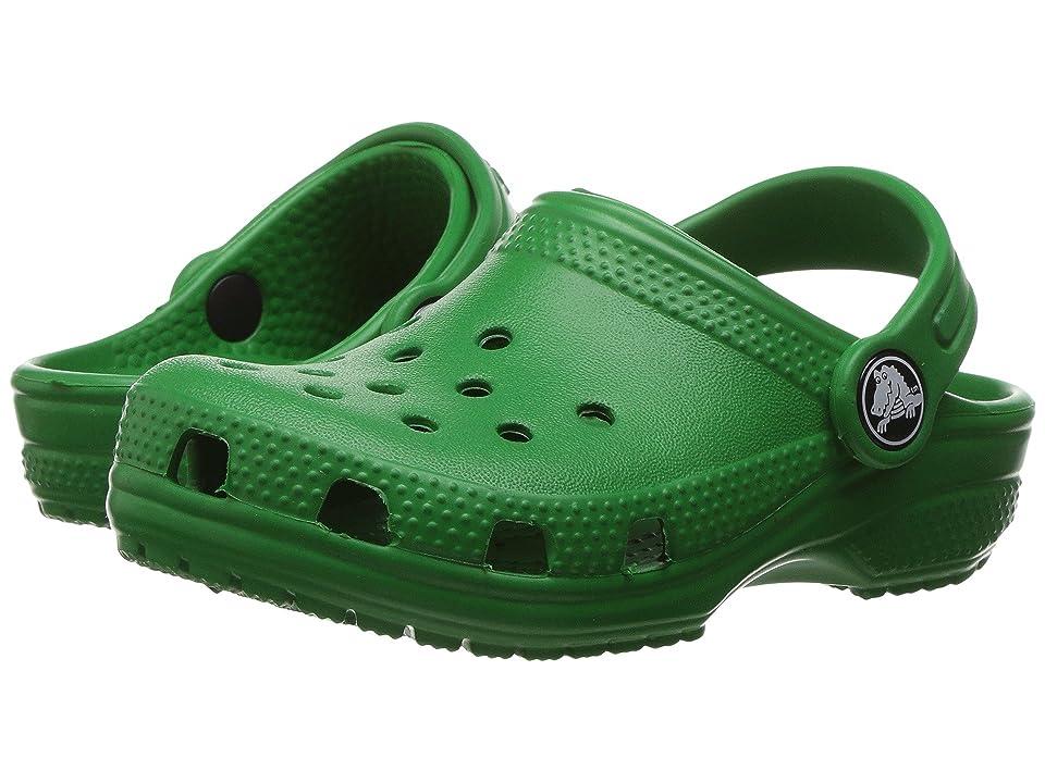 Crocs Kids Classic Clog (Toddler/Little Kid) (Kelly Green) Kids Shoes