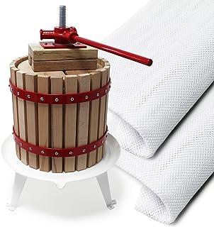 Prensa fruta 6L con 3 paños de prensado Prensa para mosto macerado vino sidra Elaboración bebidas