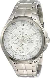 Casio EF-326D-7AV Mens Watch Stainless Steel Edifice White Dial