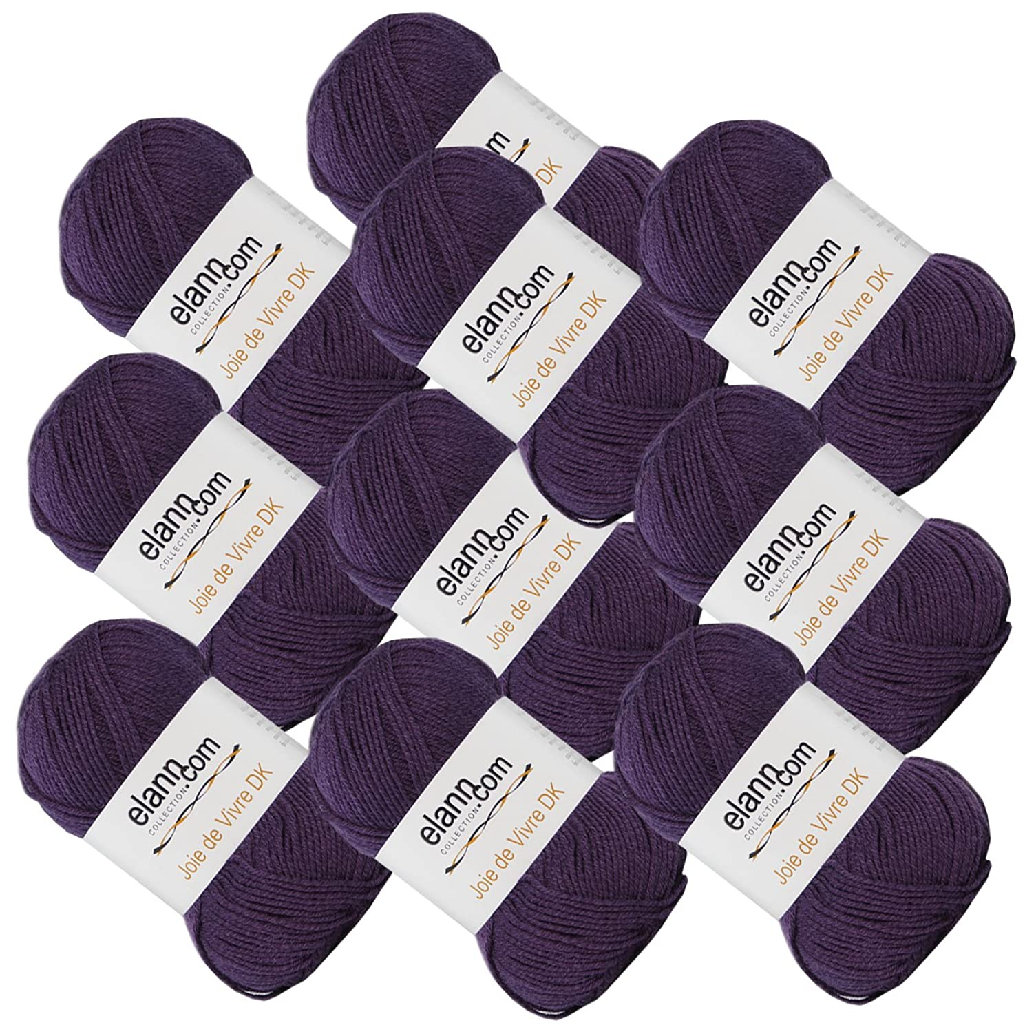 elann Joie de Vivre DK Yarn   10 Ball Bag   04 Plum Purple