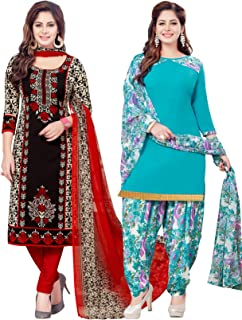 Salwar Studio Women's Pack of 2 Synthetic Unstitched Dress Material Combo-MONSOON-2158-2159