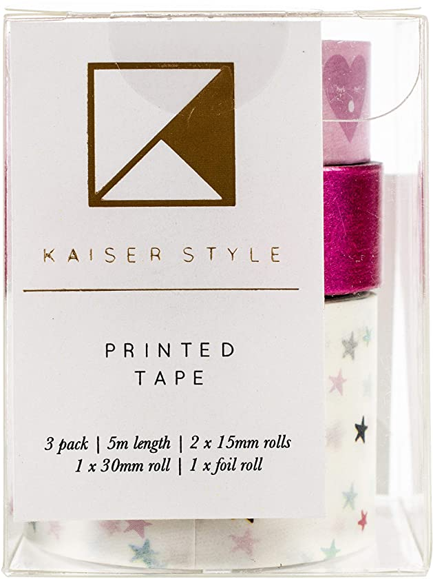 Kaisercraft KS1200 Kaiser Style Printed Tape 3/Pkg-Glorious