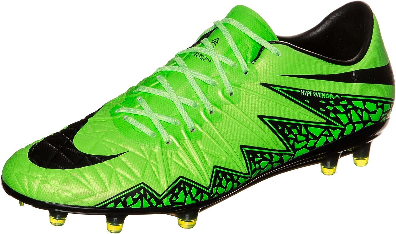 Nike Hypervenom Phinish FG Soccer Cleat (Green Strike, Black) Sz. 12.5