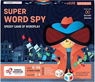Chalk and Chuckles Super Word Spy - Word Games for Kids, Adults Age 8-99, Fun for Family Game Night, Educational Board Gam...