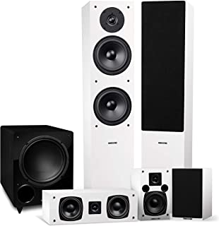 Fluance Elite High Definition Surround Sound Home Theater 5.1 Channel Speaker System Including 3-Way Floorstanding Towers,...