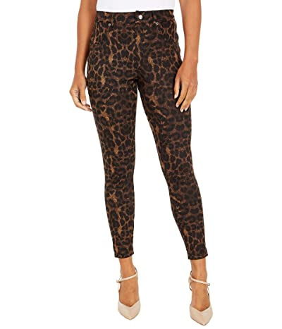 HUE Ikat Animal Denim High-Rise Leggings (Brown) Women