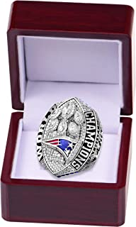 HASTTHOU 2019 New England Patriots Championships Ring Collectible Ring with Box