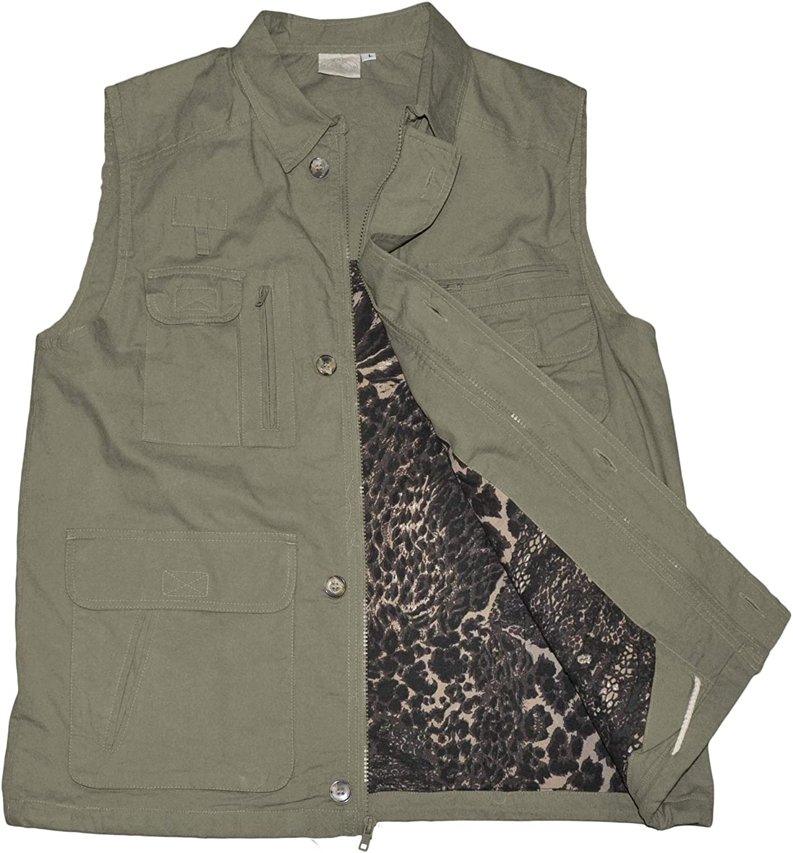 Tag Safari Travel Vest Max 43% OFF for Men 100% Perfe Cotton favorite Multi Pocket