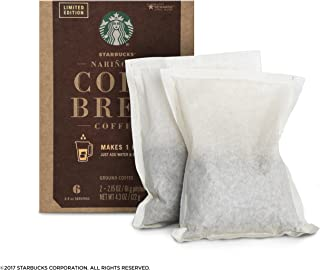 Starbucks Cold Brew, ground coffee for cold coffee 4.3oz(2.15oz x 2), pack of 1