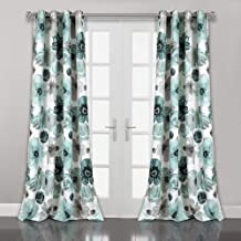 Lush Decor Leah Floral Darkening Window Panel Curtain Set for Living, Dining Room, Bedroom, 84