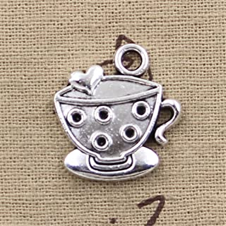 20pcs Charms a cup of coffee 25x22mm Antique Making Vintage Tibetan Silver Zinc Alloy Pendant