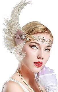 BABEYOND 1920s Flapper Headpiece 20s Peacock Feather Headband Crystal Great Gatsby Headband 1920s Flapper Gatsby Hair Accessories