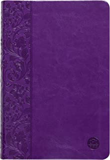 The Passion Translation New Testament, Purple (2nd Edition, Faux Leather) – In-Depth Bible with Psalms, Proverbs, and Song...