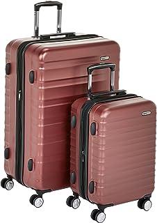 امازون بيسكس حقائب سفر بعجلات ، احمر