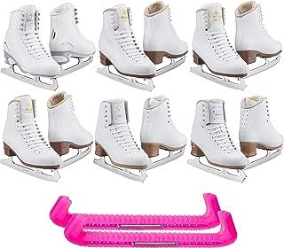 SKATE GURU Jackson Ultima Figure Ice Skates for Women and Girls with Free Guardog Skate Guards