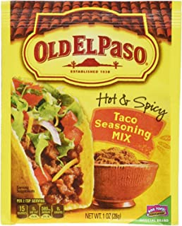 Old El Paso Hot & Spicy Taco Seasoning Mix, 1 oz (Pack of 6)