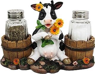 Bellaa 20102 Cow Glass Salt and Pepper Shaker Set Country Farm Animal Bellaa inc