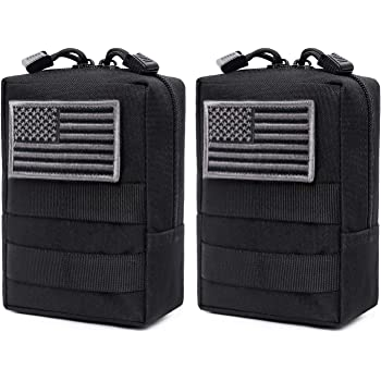 Black TOPBATHY Magazine Dump Pouch Military Adjustable Belt Utility Hip Holster Bag Outdoor Pouch