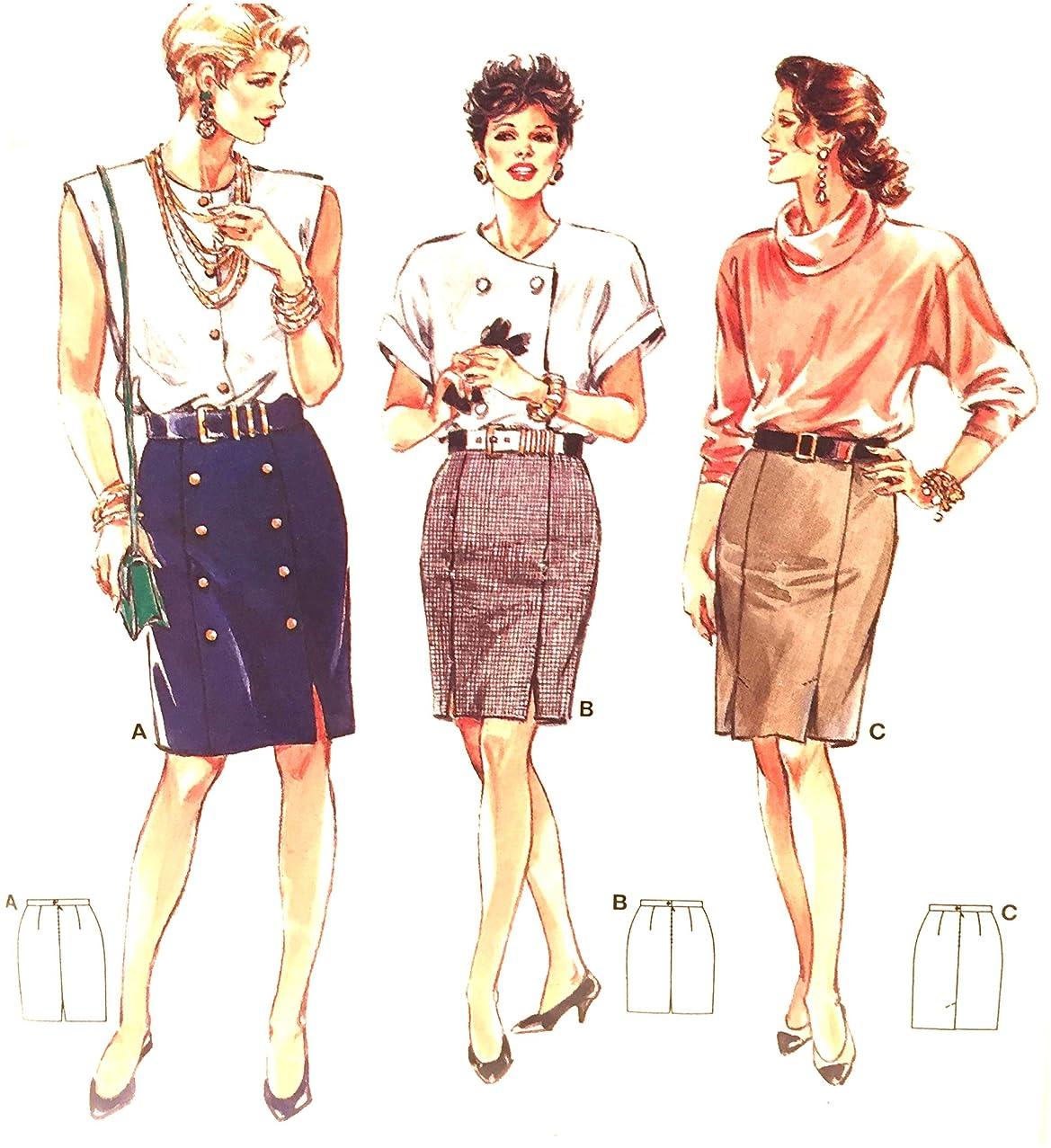 Burda Super Easy Pencil Skirt Fabric Pattern 4686 Sizes 10-22