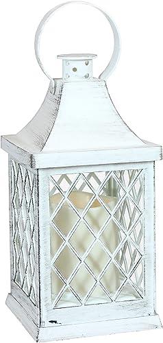 popular Sunnydaze wholesale Ligonier Indoor Decorative LED Candle Lantern - Rustic Vintage Flameless Light high quality for Living Room, Kitchen, Bedroom and Bathroom - Antique Style Tabletop Decoration - 10-Inch outlet online sale