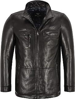 Men's Leather Jacket Black Semi Veg Tanned 100% Lambskin Biker Racer Jacket M-51