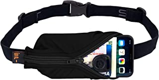 SPIbelt Running Belt Large Pocket, No-Bounce Waist Pack for Runners, iPhone 6 7 8-Plus X, Made in USA for Men and Women, Workout Fanny Pack, Adjustable One Size, Expandable Pouch, Fits Large Phones