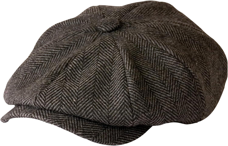 Gamble Gunn Shelby' Childrens Newsboy Cloth Grey 100% quality warranty! C Herringbone New item