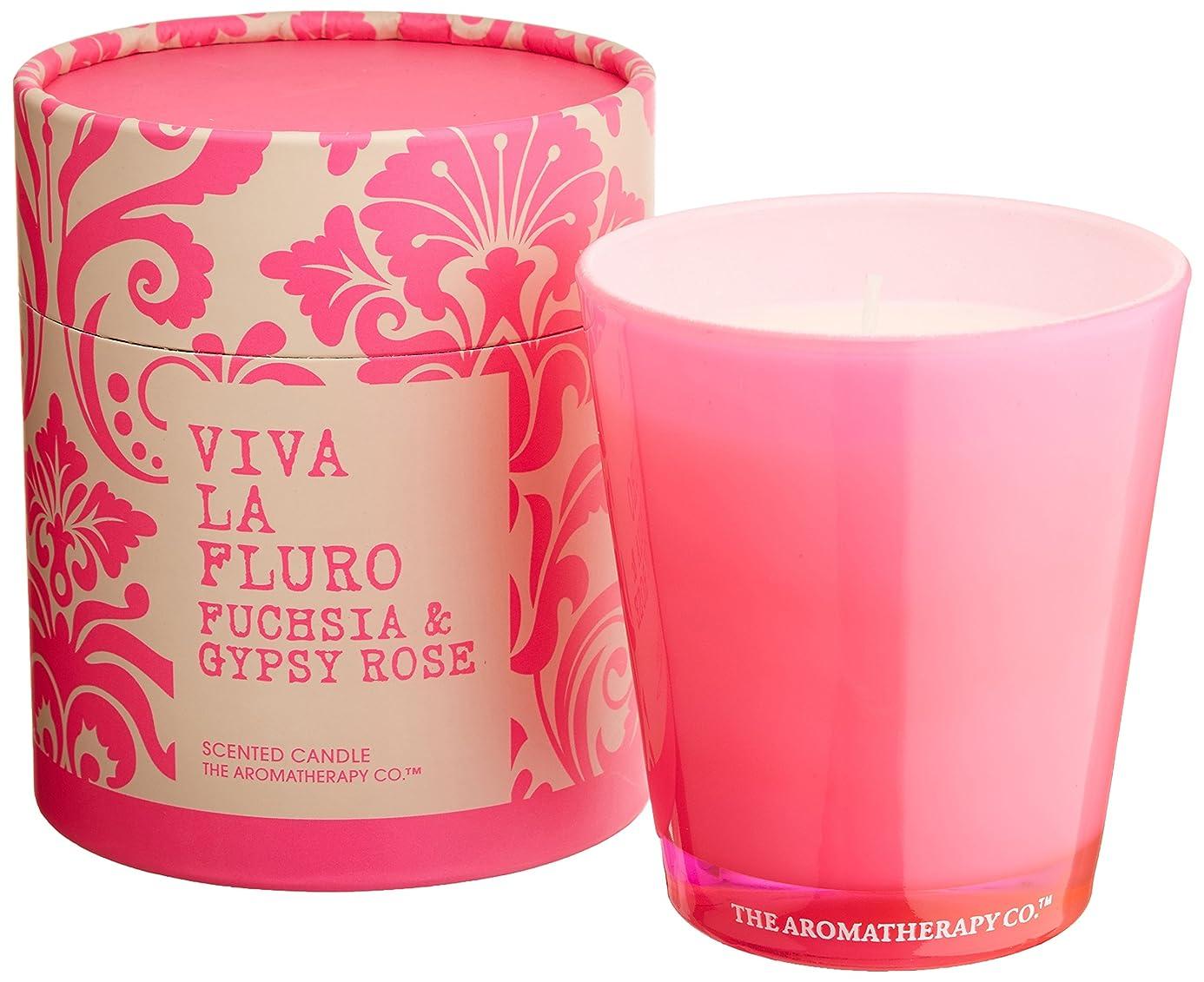 花瓶吹きさらし満州VIVA LA FLURO センティッドキャンドル フューシャ&ジプシーローズ Fuchsia&Gypsy Rose ビバ?ラ?フルーロ