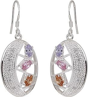 Fasherati buntes Stein verzierte Kristall in Silber Beschichtung für Frauen